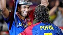 Henry and Puyol played together at FCB