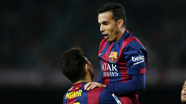 Pedro Rodríguez had a wonderful night with a first-half hat trick as Barça beat Huesca 8-1 / PHOTO: MIGUEL RUIZ-FCB.
