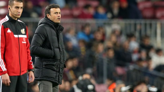 Luis Enrique was delighted with his team's play at both ends of the pitch against Huesca on Tuesday night / PHOTO: MIGUEL RUIZ-FCB