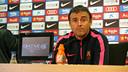 Luis Enrique, en la rueda de prensa. FOTO: MIGUEL RUIZ-FCB.