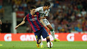 Messi in the game at home in the league against Elche. PHOTO: MIGUEL RUIZ - FCB