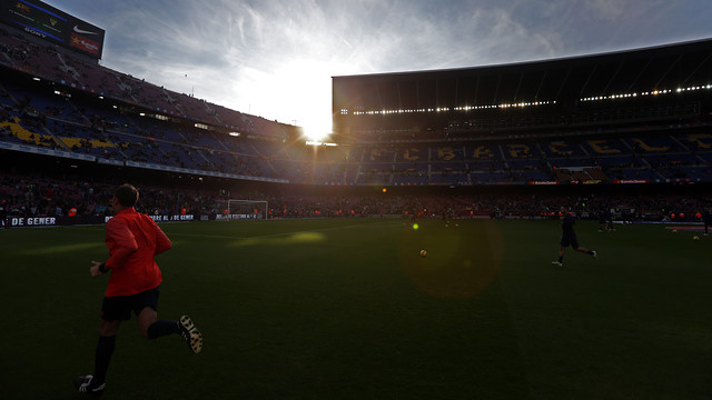 The weather was beautiful at Camp Nou on Saturday afternoon / PHOTO: MIGUEL RUIZ - FCB