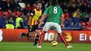 Xavi ran the Catalonia attack in Monday's friendly versus the Basque Country at San Mamés. PHOTO: MIGUEL RUIZ-FCB.