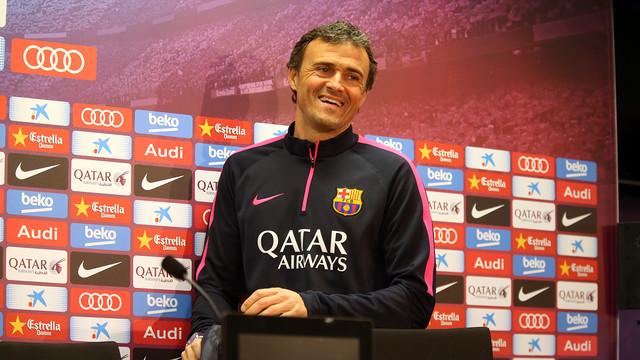 Luis Enrique was speaking at the Ciutat Esportiva / PHOTO: MIGUEL RUIZ - FCB