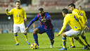 Adama was unable to help his side to a win against Las Palmas / PHOTO: VÍCTOR SALGADO - FCB