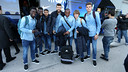 There are six B team players in tonight's squad, pictured here with Piqué and Rafinha / PHOTO: MIGUEL RUIZ-FCB
