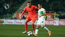 Gerard Gumbau made his first team debut against Elche / PHOTO: MIGUEL RUIZ - FCB