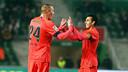 Mathieu and Pedro / PHOTO: MIGUEL RUIZ-FCB.