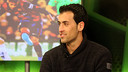 Sergio Busquets on the Barça TV programme 'El Marcador' / PHOTO: MIGUEL RUIZ-FCB