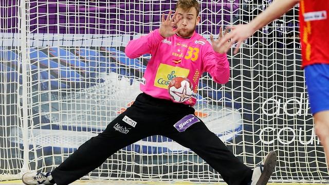 Gonzalo Pérez de Vargas, 17 paradas y 40 % de acierto en el partido ante Eslovenia / FOTO:Qatar Handball 2015