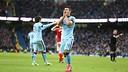 Kun Agüero se lamenta al final del partido / FOTO: Manchester City