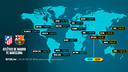 Atlético Madrid v FC Barcelona worldwide kick-off times