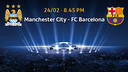 Manchester City - FC Barcelona, tickets from February 2