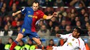 Iniesta is on his way to yet another cup semi-final, seen here playing in 2009 against Mallorca / PHOTO: MIGUEL RUIZ - FCB