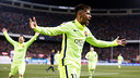 Neymar Jr was on target twice at the Calderón / PHOTO: MIGUEL RUIZ-FCB