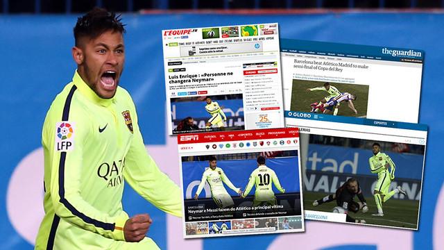 Fotomontagem de Neymar e diversas capas de jornais que falam dele.
