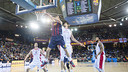 Satoransky lays the ball up against Estrella Roja. PHOTO: FCB Archive