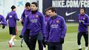 Leo Messi et Luis Suarez à l'entraînement. Photo/ Miguel Ruiz