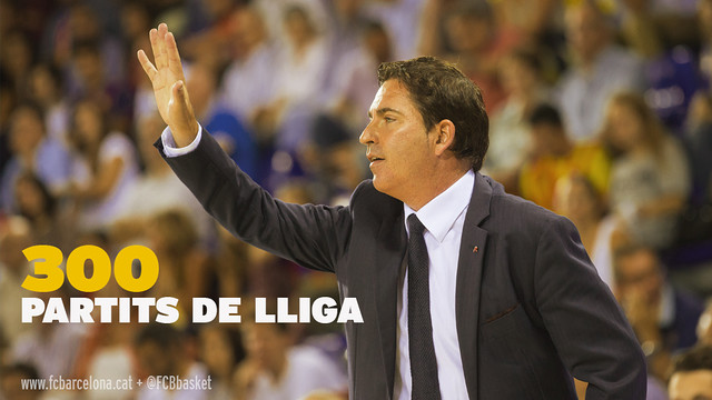 Xavi Pascual is set to take charge of his 300th league game/ PHOTO: FCB