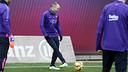 Andrés Iniesta à l'entraînement / ARCHIVES FCB