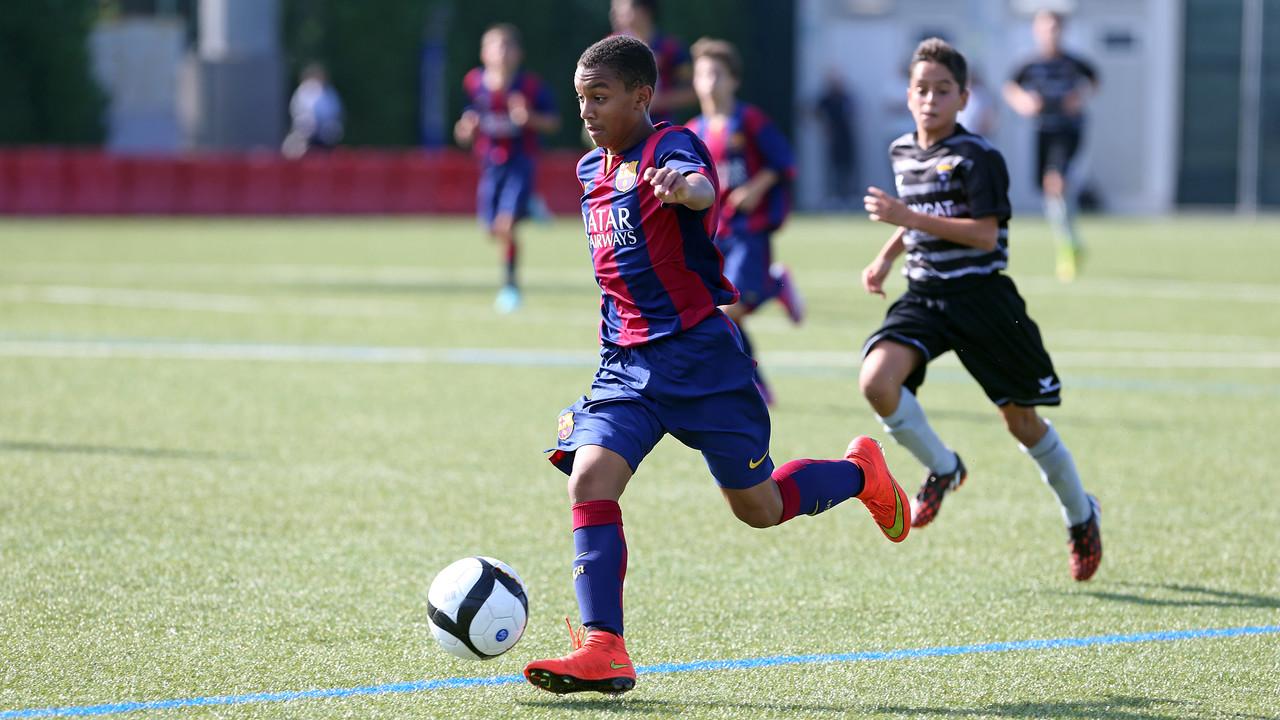 Un partit de l'infantil A. FOTO:ARXIU-FCB.