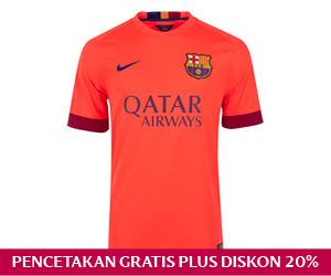 Jersey Tandang Barcelona FC 2014/15
