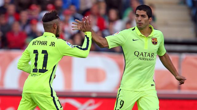 Neymar and Luis Suárez, earlier this season / FCB ARCHIVE