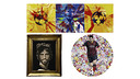 Leo Messi is the inspiration for two of the paintings and another features Gerard Piqué.