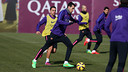 Sergio and Xavi were among the players that trained on Monday / MIGUEL RUIZ - FCB