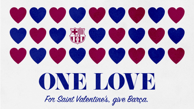 Valentine's Day at Camp Nou