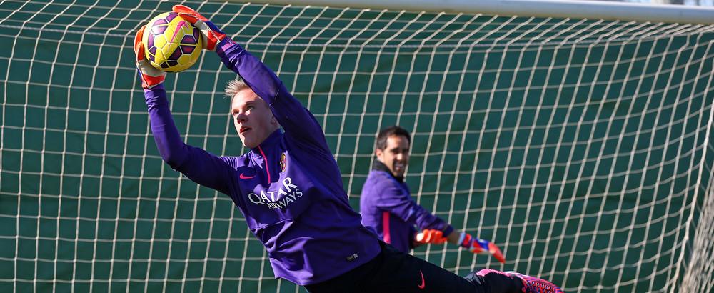 أخر استعدادات برشلونة لمواجهة فياريال 2015-02-06_ENTRENO_28.v1423579298