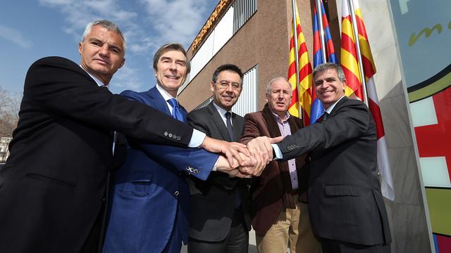 Bordas, Braida, Bartomeu, Rexach and Mestre on Thursday morning / MIGUEL RUIZ - FCB