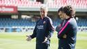 Jordi Vinyals ha preparado su primer partido con el Barça B / GERMÁN PARGA - FCB