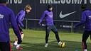 Mascherano et Rakitic, durant un entraînement / ARCHIVES FCB