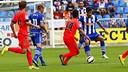 En el partido de ida, el Barça B se impuso por 2 a 3. FOTO: DEPORTIVO ALAVÉS