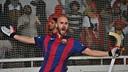 Raül Marín, celebrando su gol en Tordera. FOTO: Francesc Xavier Martínez