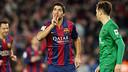 Suarez célèbre son incroyable but contre Levante / MIGUEL RUIZ - FCB