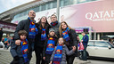 A 'blaugrana' family before the game against Levante / FCB
