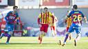 Sandro was unable to help his team to a win against Llagostera / VÍCTOR SALGADO-FCB