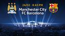 Manchester City v FC Barcelona, UEFA Champions League last 16