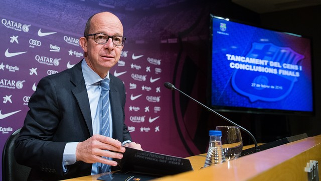 Jordi Cardoner has presented the outcome of the census process / GERMÁN PARGA - FCB