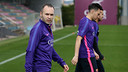 Iniesta in training on Monday / MIGUEL RUIZ-FCB