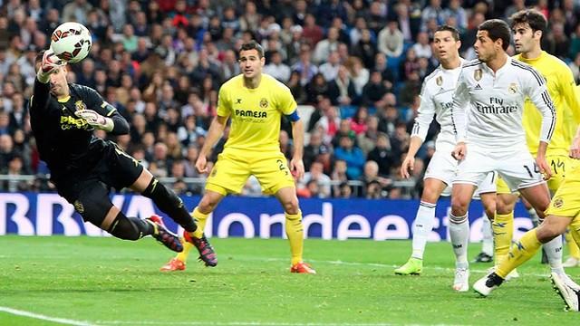 Goalkeeper Sergio Asenjo was outstanding for Villarreal at Real Madrid / http://www.villarrealcf.es
