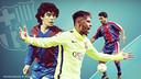 Neymar surpasses Maradona and Romário / FCB