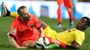 Iniesta and Campbell / MIGUEL RUIZ - FCB