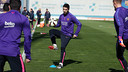 Luís Suárez trained along with his teammates at the Ciutat Esportiva on Friday 6 March 2015. / MIGUEL RUIZ - FCB