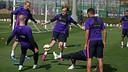 L'equipe pendant l'entrainement de jeudi / MIGUEL RUIZ-FCB