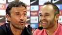 En directe, la roda de premsa de Luis Enrique i Andrés Iniesta / FCB