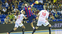 Gurbindo in the game in the first half of the season / PHOTO: VICTOR SALGADO - ARXIU