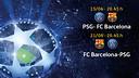 PSG - FC Barcelona, eliminatoria de cuartos de Liga de Campeones